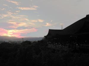 Kiyomizudera di waktu senja